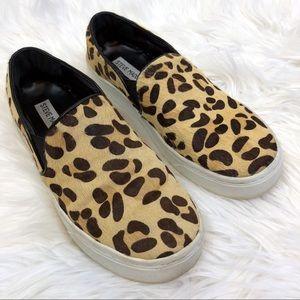 Steve Madden Leopard Print Slip On Sneakers